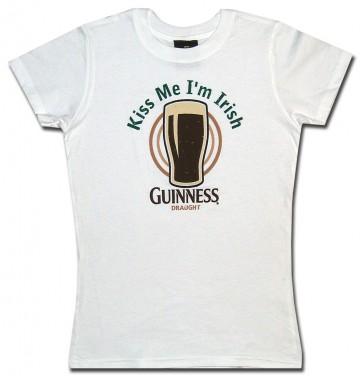 Guinness Women's Shirt : Kiss Me Babydoll