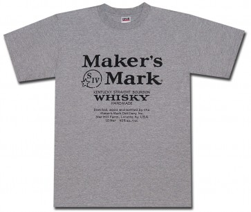 Maker's Mark Shirt : Logo on Grey T-Shirt