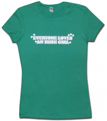 Irish Womens T-Shirt - Irish Girl Babydoll T-Shirt
