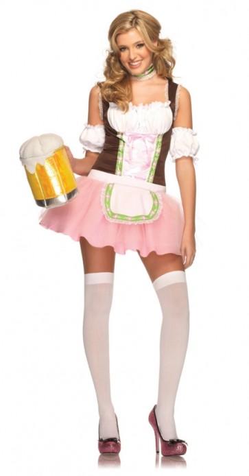 Beer Garden Babe : Pink Beer Girl Costume