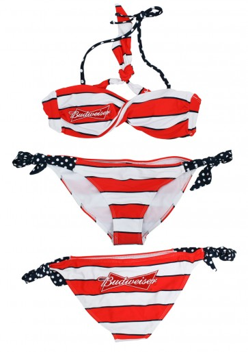 Striped Budweiser Bikini Set