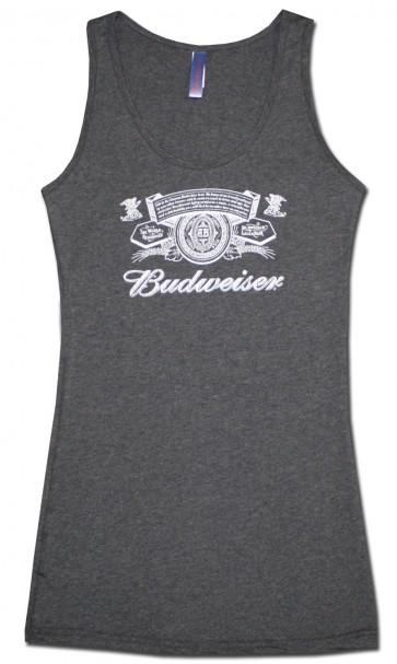 Grey Budweiser Women's Logo Tank Top