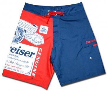 Split Navy Budweiser Board Shorts