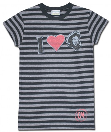 Captain Morgan Women's Shirt : Black Stripes