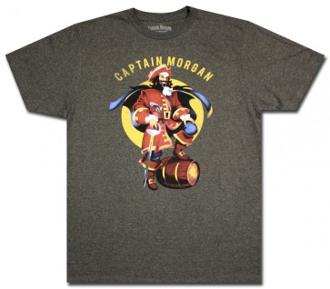 Charcoal Pose Captain Morgan T-Shirt