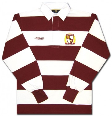 Guinness Rugby Burgandy Stripes Long Sleeve Shirt