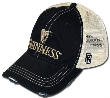 Guinness Black Ripped Mesh Hat