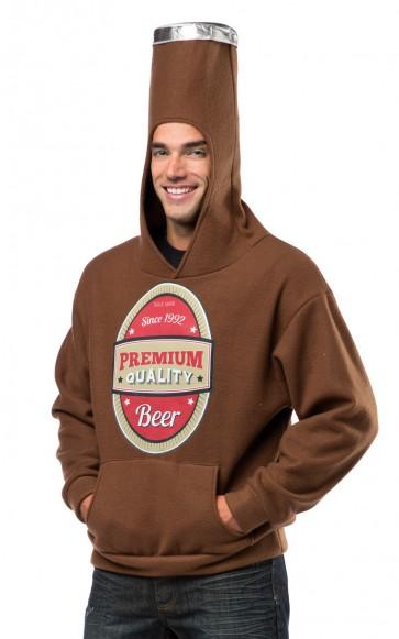 Beer Bottle Pullover Sweatshirt Costume