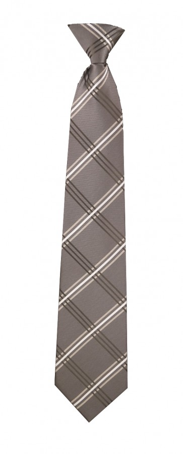 Flask Tie Grey & Black Plaid