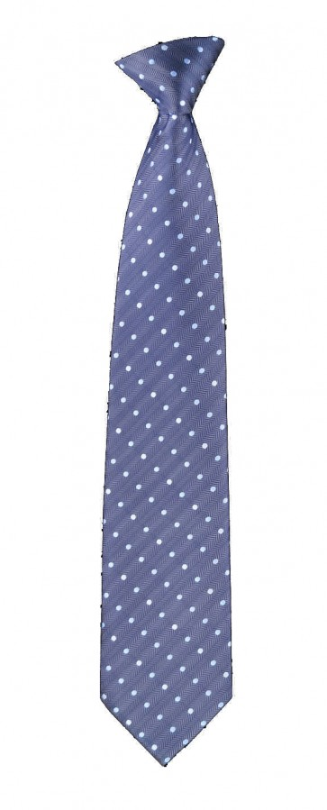 Flask Tie Blue Polka Dot