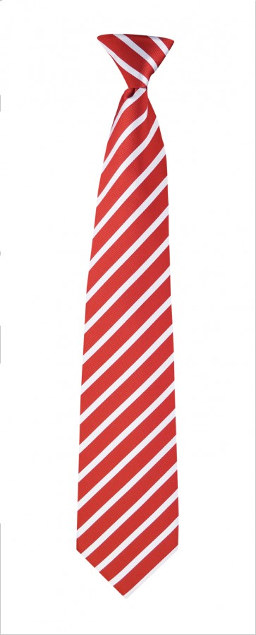 Flask Tie Red & White Stripes