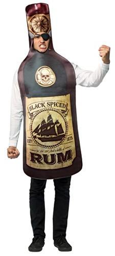 Spiced Rum Bottle Costume