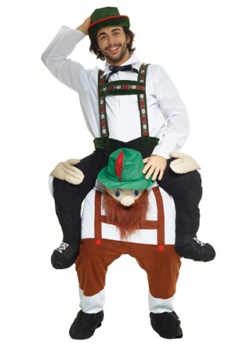Bearded Lederhosen Piggy Back Costume