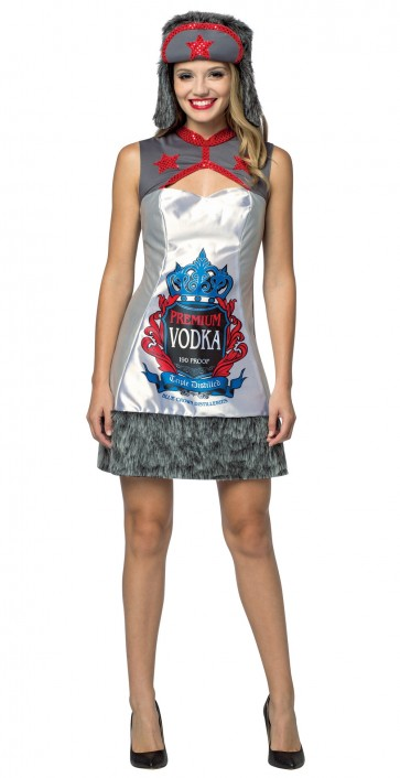 Russian Vodka Dress Women's Costume
