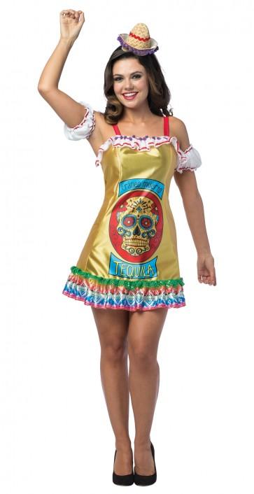 Dead Skull Tequila Dress Women's Costume