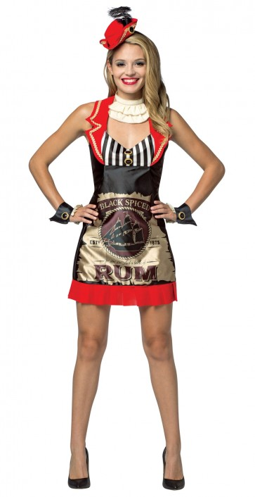 Spiced Rum Bottle Dress Women's Costume