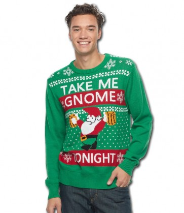 Take Me Gnome Ugly Holiday Sweater