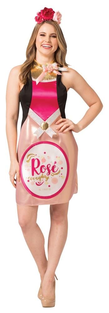 Wine Rose Bottle Dress Women's Costume