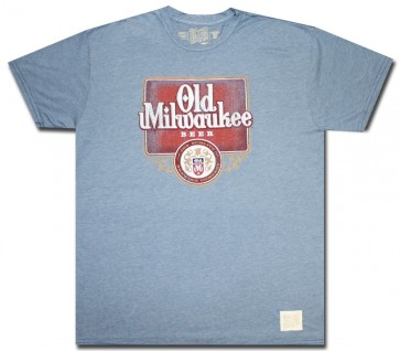 Old Milwaukee Beer T-Shirt : Baby Blue Comfort Shirt