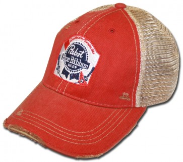 PBR Label Washed Ripped Hat