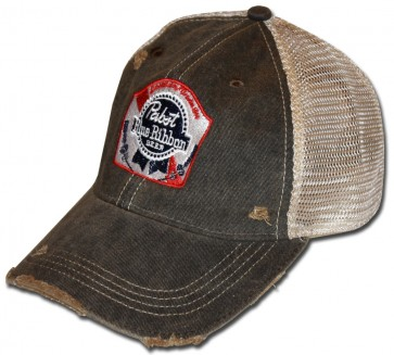 PBR Rustic Washed Ripped Hat