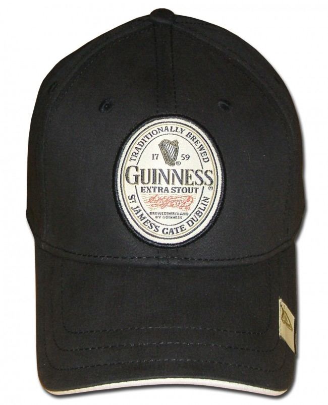 Black Extra Stout Label Guinness Hat Beertees Com
