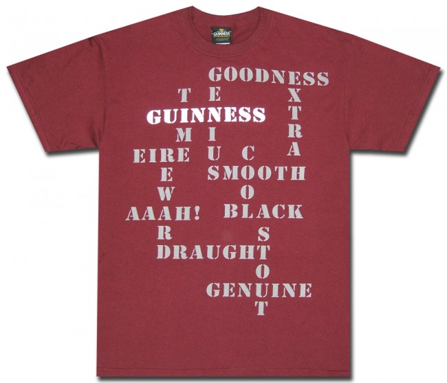 Guinness Shirt : Crossword Puzzle T-Shirt   Officially ...