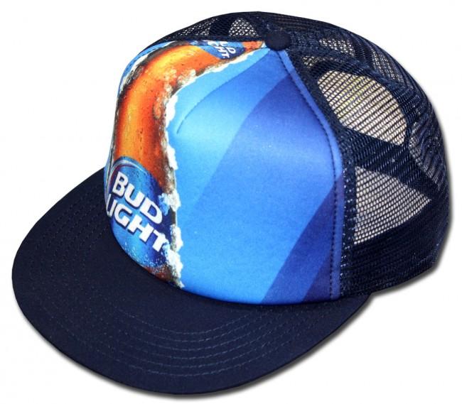 Home; Bud Light Bottle Trucker Hat. Front