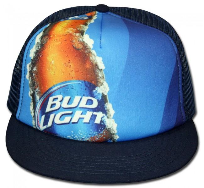 52a2cef1dff Home  Bud Light Bottle Trucker Hat. Front · Zoom · Center