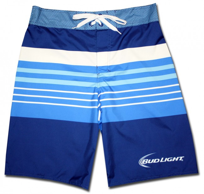 Striped Bud Light Board Shorts Beerteescom