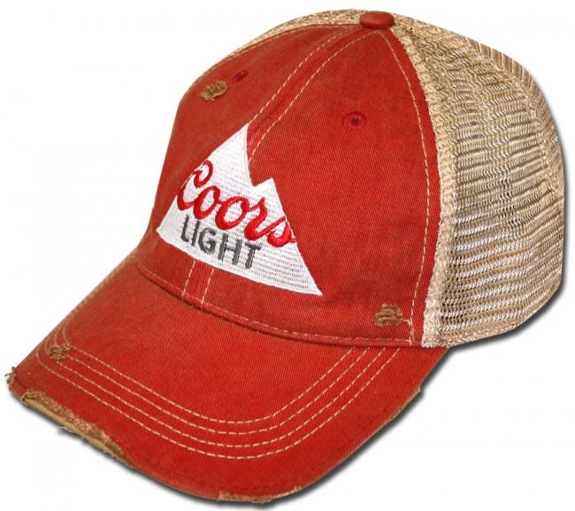 5ea4b107a1533e Coors Light Triangle Ripped Retro Hat | BeerTees.com