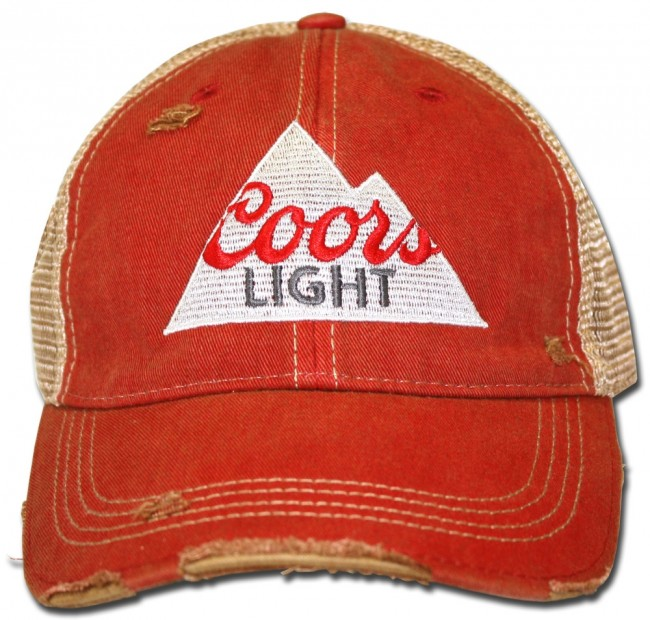 99f366b9fe6cef Home; Coors Light Triangle Ripped Retro Hat. Front · Zoom · Front. Center