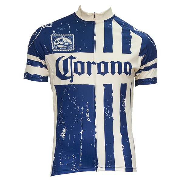 Blue Striped Corona Cycling Jersey Beertees Com