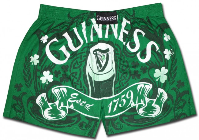 Guinness Boxer Shorts Green Luck Of The Irish