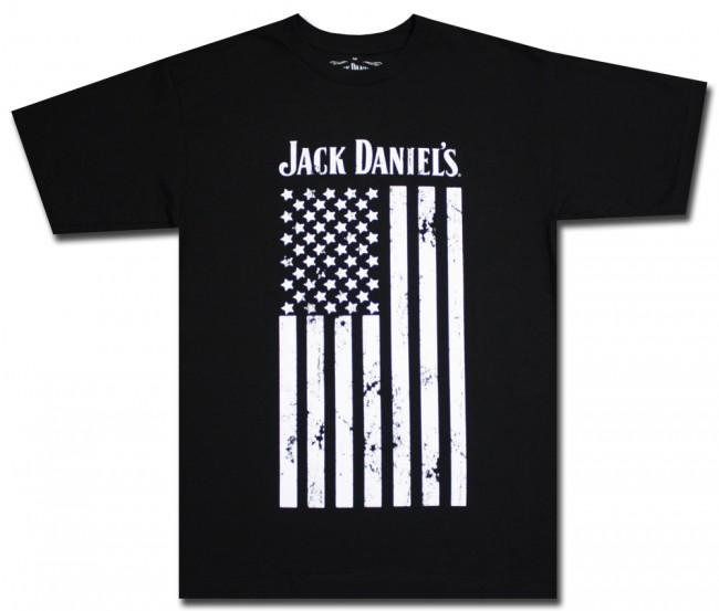 jack daniel 39 s distressed us flag t shirt. Black Bedroom Furniture Sets. Home Design Ideas