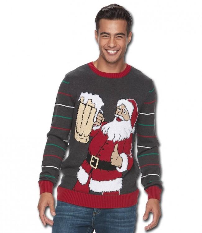 Beer Christmas Sweater.Santa S Beer Ugly Christmas Sweater