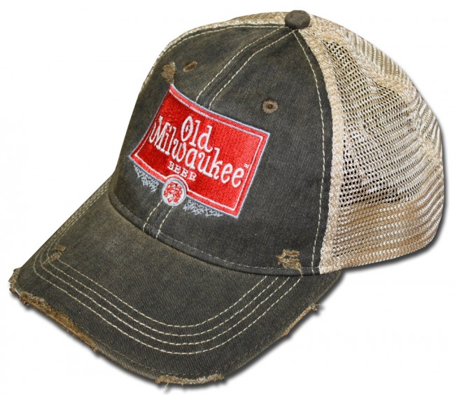 a155f33da17 Home  Vintage Old Milwaukee Trucker Hat. Front