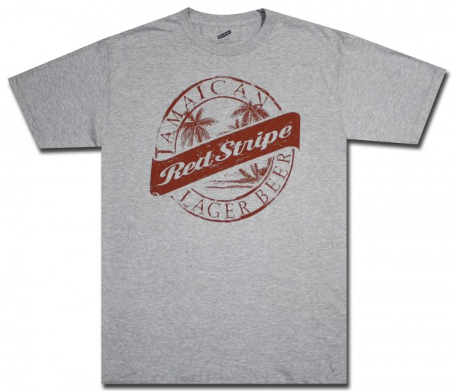 cff3d4083c Red Stripe Beer Distressed Big & Tall T-Shirt | BeerTees.com