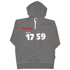 Guinness Zip Hoody : Grey 1759
