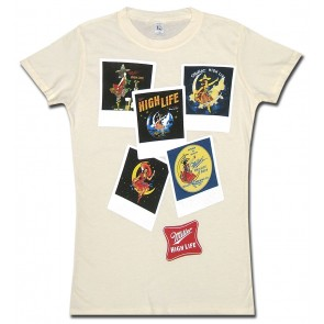 Miller High Life Women's Babydoll Shirt : Polaroids