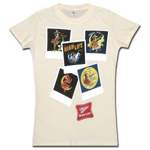 Miller High Life Women's Babydoll Shirt : Polaroids