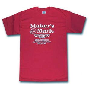 Maker's Mark Shirt : Red Whisky Label T shirt