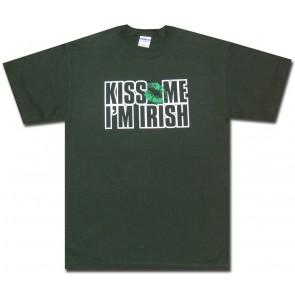 Irish Shirt : Kiss Me Im Irish T-Shirt