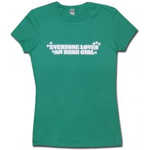 Irish Womens T-Shirt - Irish Girl Babydoll T-Shirt