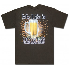 Beer Shirt : My Life Is Beer T-Shirt