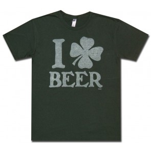 Irish Shirt : I Clover Beer T-Shirt