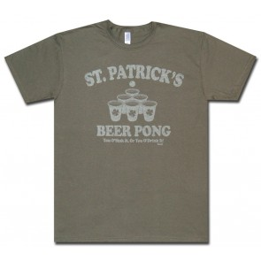 Beer Pong Shirt : St Patrick's Sink It Or Drink It T-Shirt