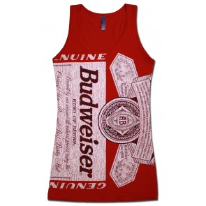 Red Label Budweiser Women's Long Tank Top