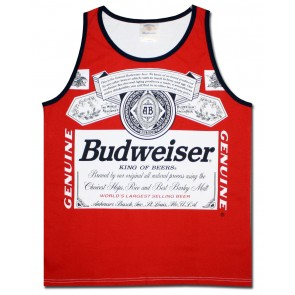 Classic Red Budweiser Men's Tank Top