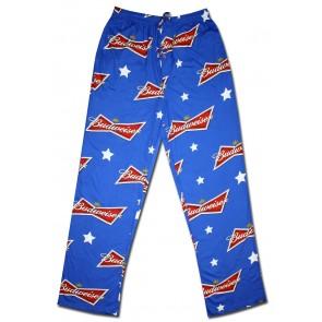 Budweiser Blue Bowtie Pajama Pants